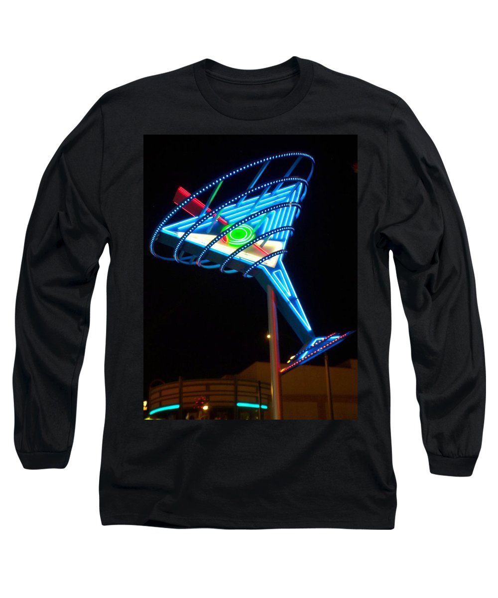 Fremont East Long Sleeve T-Shirt featuring the photograph Neon Signs 4 by Anita Burgermeister