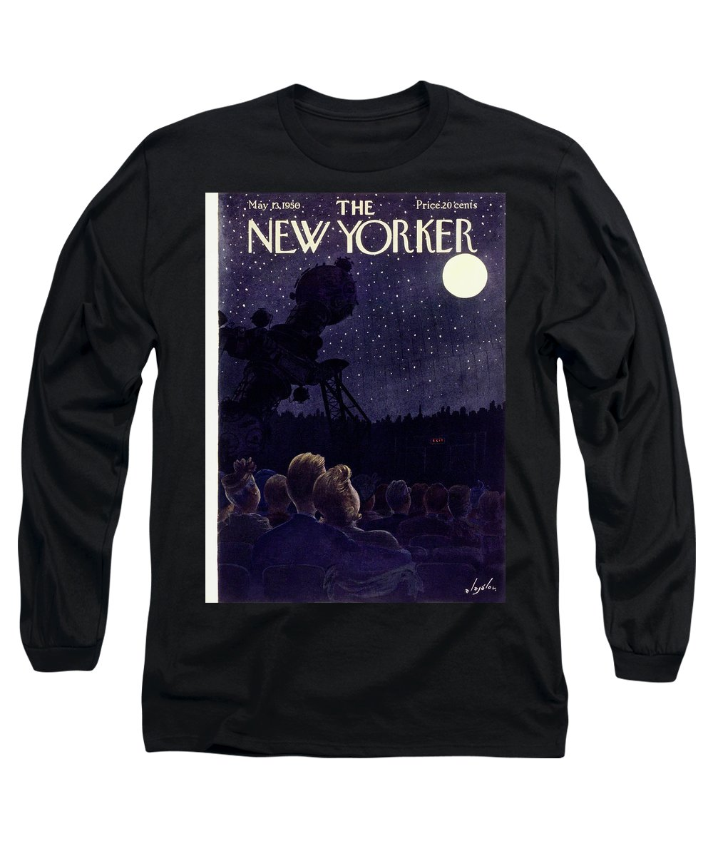 Planetarium Long Sleeve T-Shirt featuring the painting New Yorker May 13 1950 by Constantin Alajalov