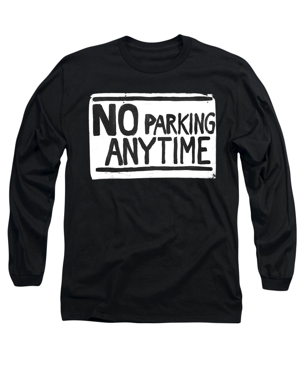 Sign Long Sleeve T-Shirt featuring the drawing No Parking by H James Hoff