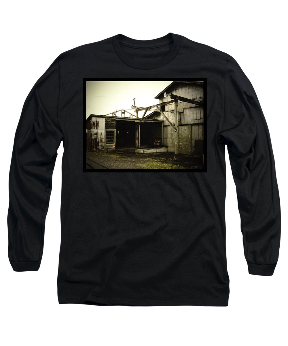 Warehouse Long Sleeve T-Shirt featuring the photograph No Trespassing by Tim Nyberg