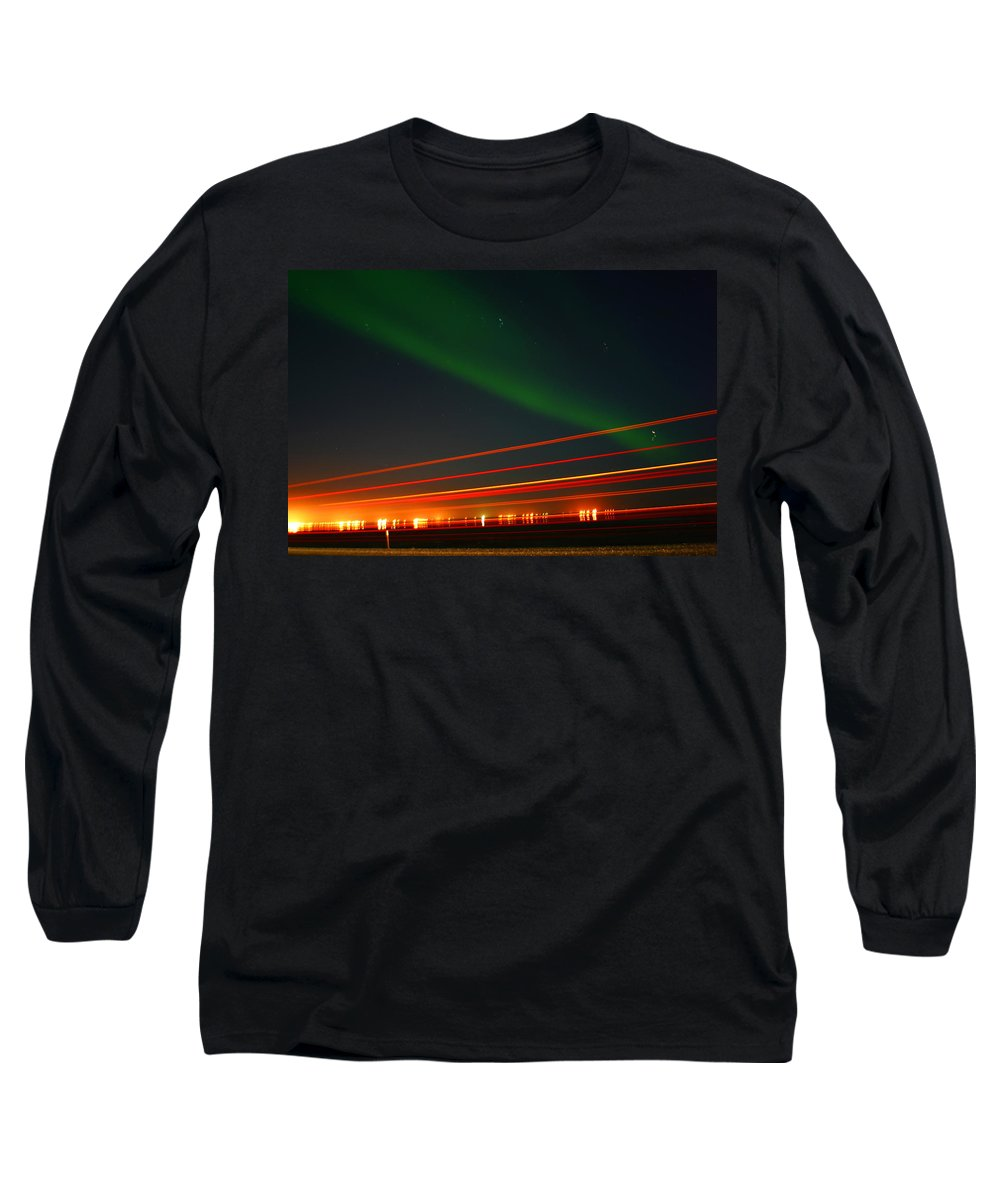 Northern Lights Long Sleeve T-Shirt featuring the photograph Northern Lights by Anthony Jones