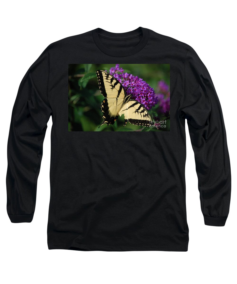 Butterfly Long Sleeve T-Shirt featuring the photograph Nothing Is Perfect by Debbi Granruth