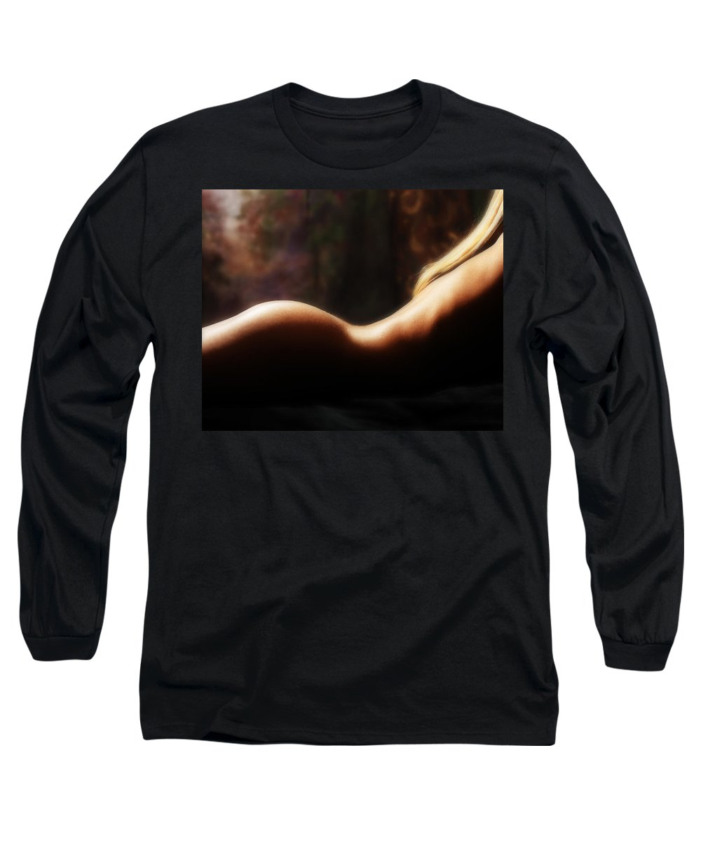 Nude Long Sleeve T-Shirt featuring the photograph Nude 2 by Anthony Jones