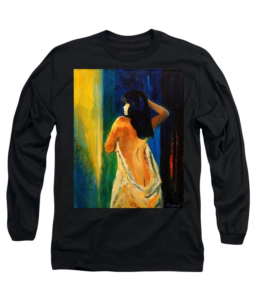 Girl Long Sleeve T-Shirt featuring the painting Nude 459070 by Pol Ledent