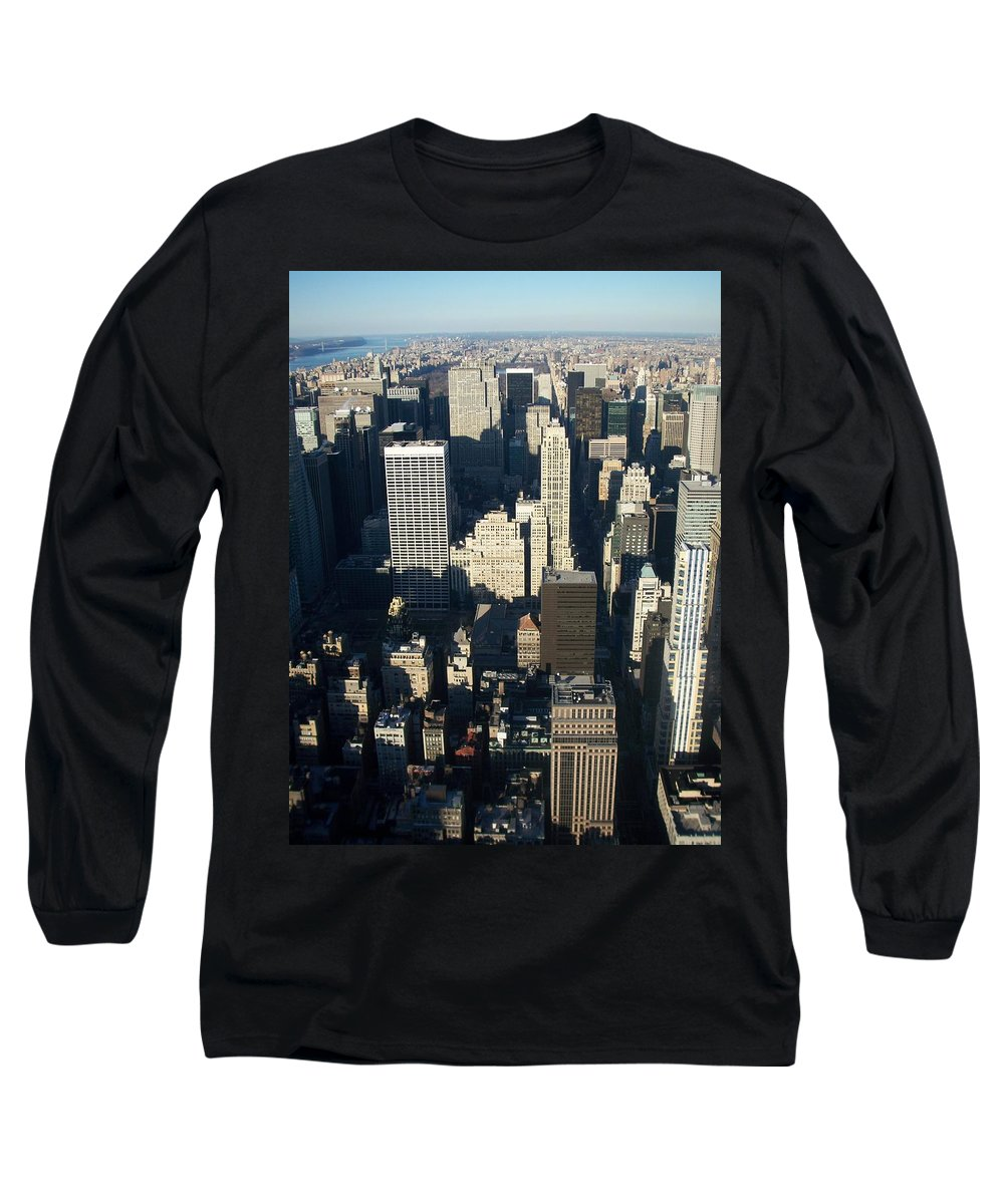 Nyc Long Sleeve T-Shirt featuring the photograph Nyc 5 by Anita Burgermeister