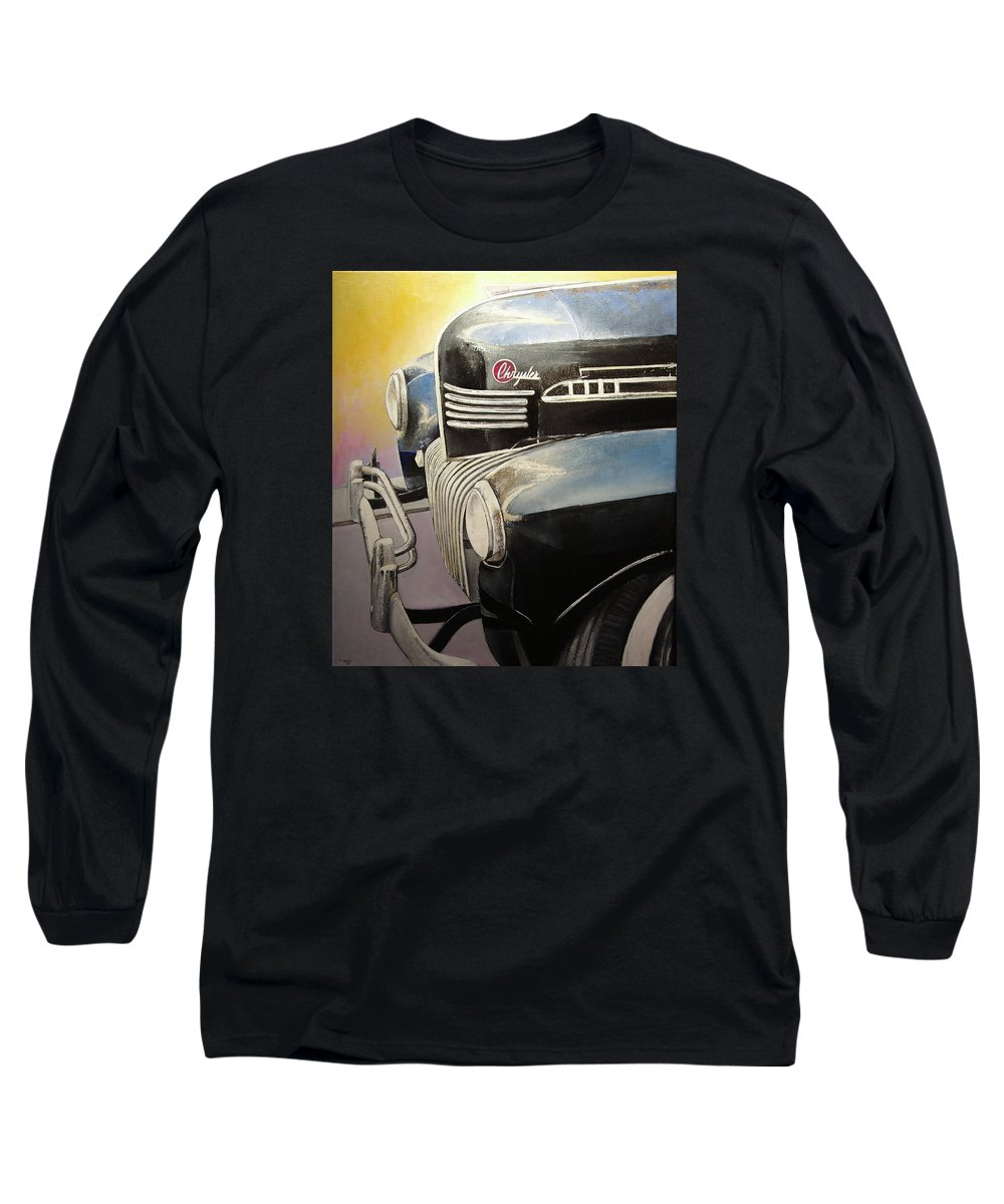 Old Long Sleeve T-Shirt featuring the painting Old Chrysler by Tomas Castano