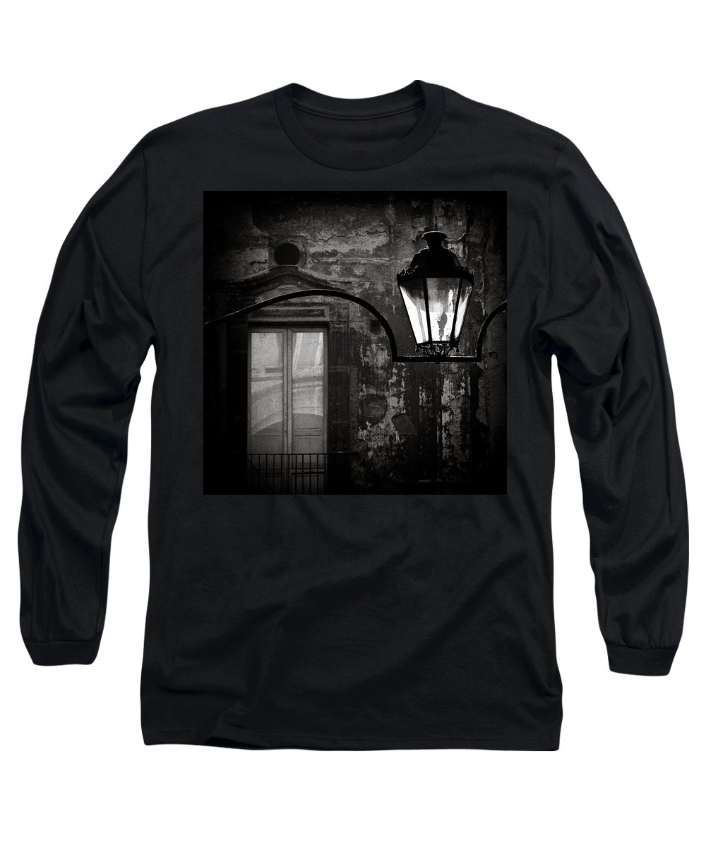 Naples Long Sleeve T-Shirt featuring the photograph Old Lamp by Dave Bowman