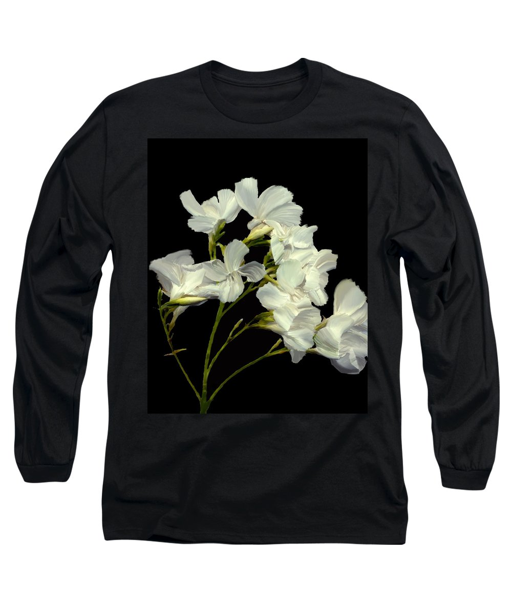 Flowers Long Sleeve T-Shirt featuring the photograph Oleander by Kurt Van Wagner