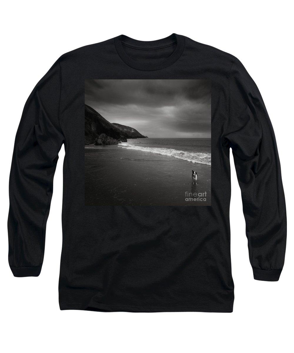 Beach Long Sleeve T-Shirt featuring the photograph On The Beach by Angel Ciesniarska