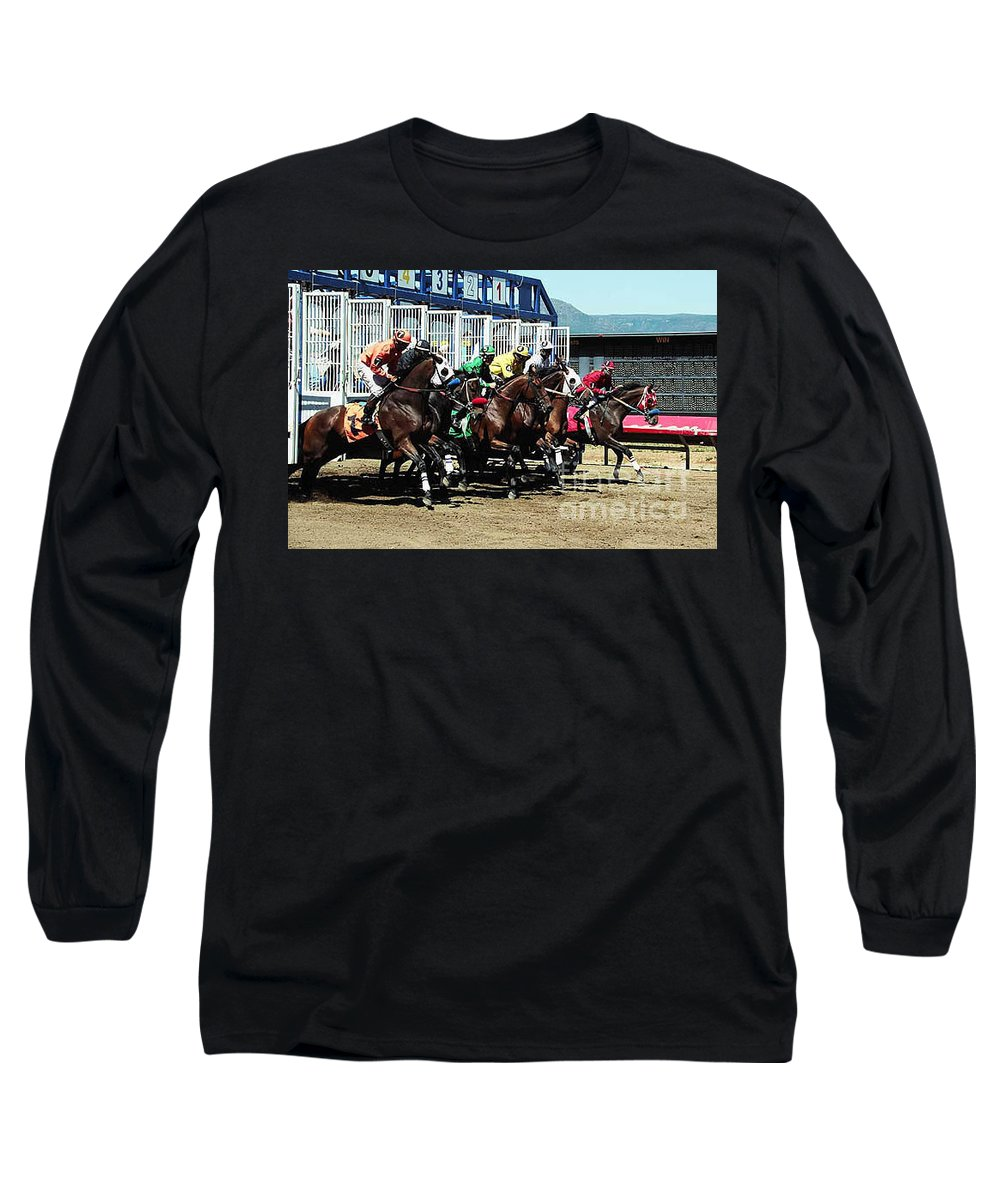 Horse Long Sleeve T-Shirt featuring the photograph Only A Mile To Go by Kathy McClure