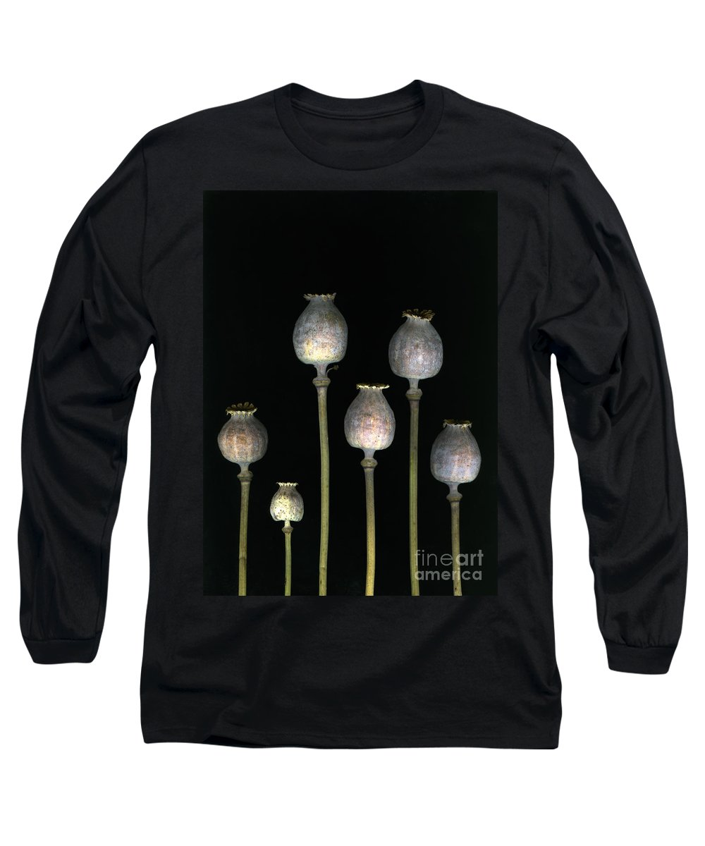 Scanography Long Sleeve T-Shirt featuring the photograph Opiates by Christian Slanec