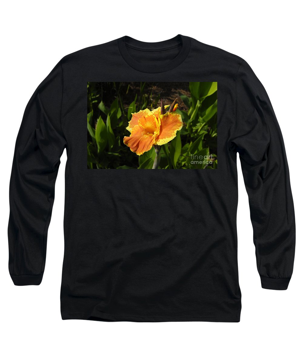 Flower Long Sleeve T-Shirt featuring the photograph Orange Flower by David Lee Thompson