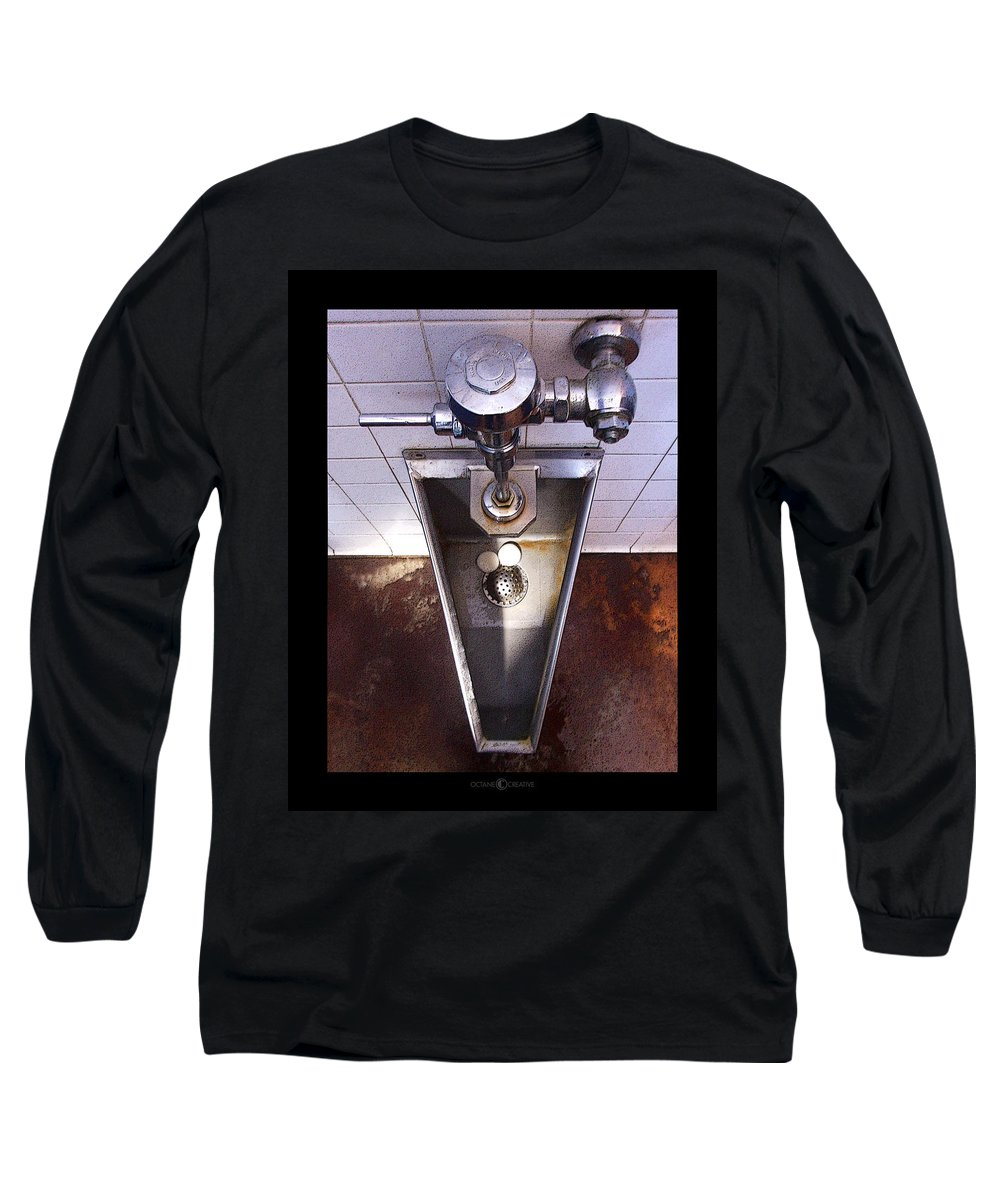 Urinal Long Sleeve T-Shirt featuring the photograph Orcas Island Urinal by Tim Nyberg
