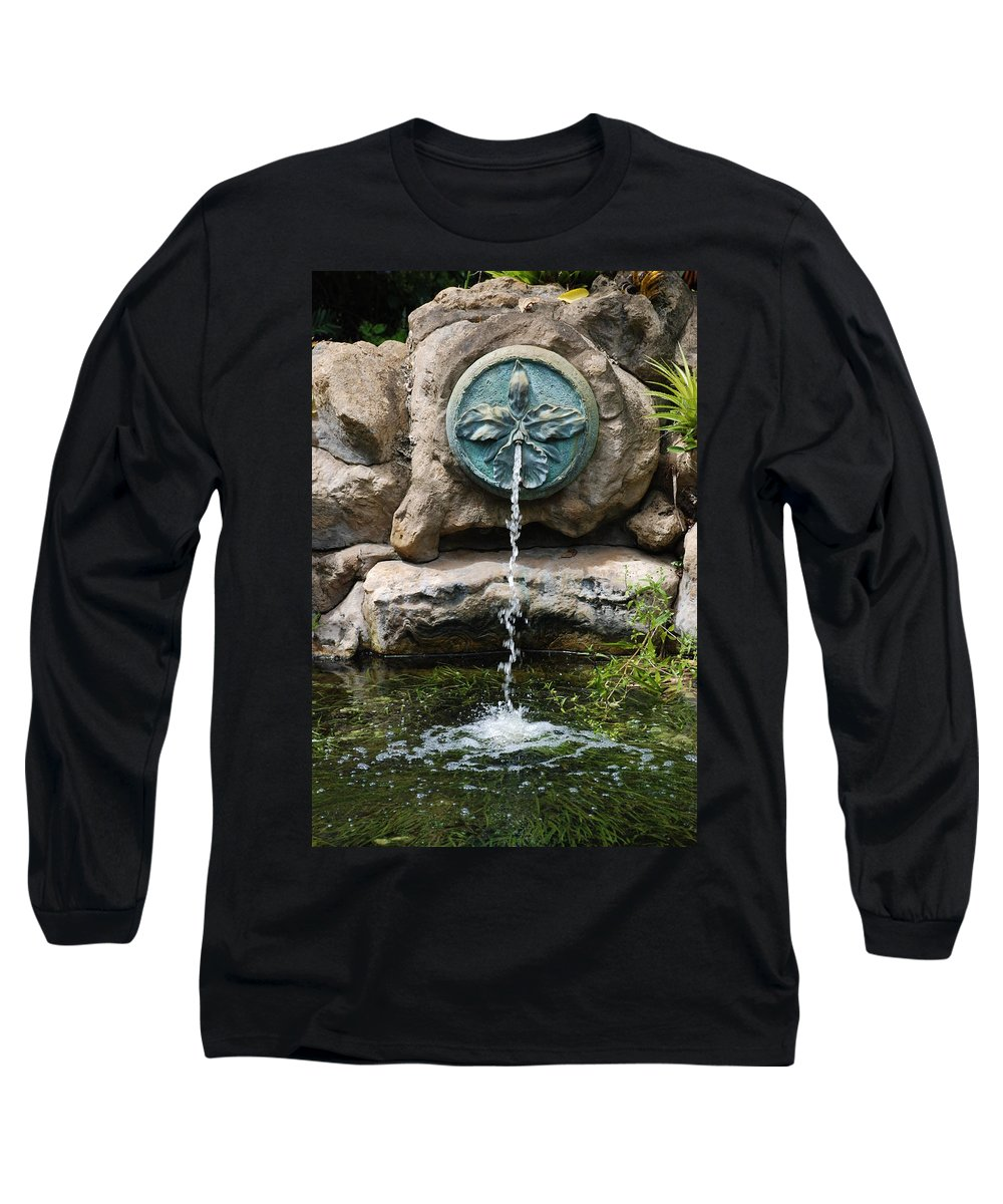 Orchid Long Sleeve T-Shirt featuring the photograph Orchid Fountian by Rob Hans