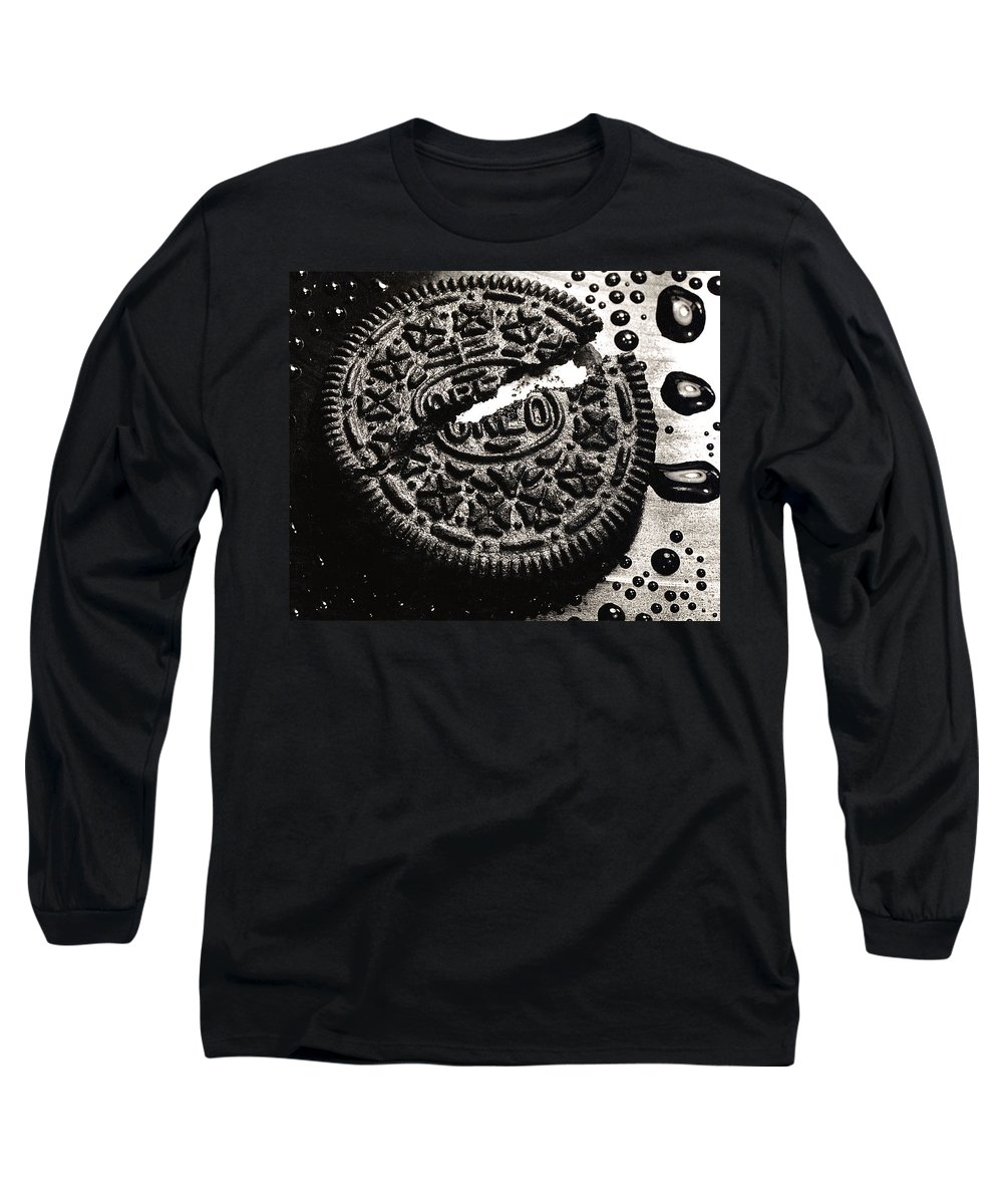 Cookie Long Sleeve T-Shirt featuring the photograph Oreo Cookie by Nancy Mueller