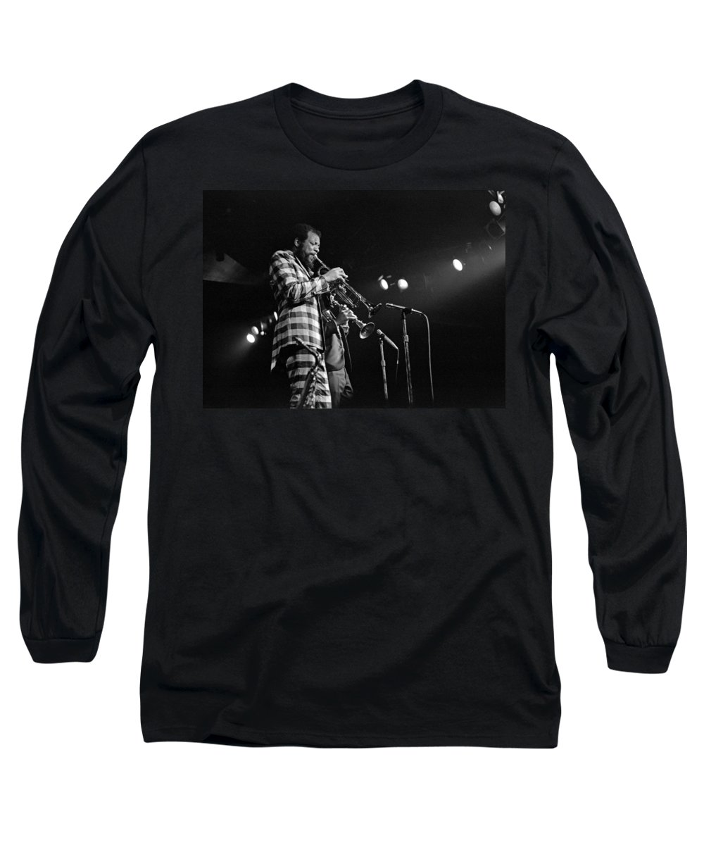 Ornette Colman Long Sleeve T-Shirt featuring the photograph Ornette Coleman On Trumpet by Lee Santa