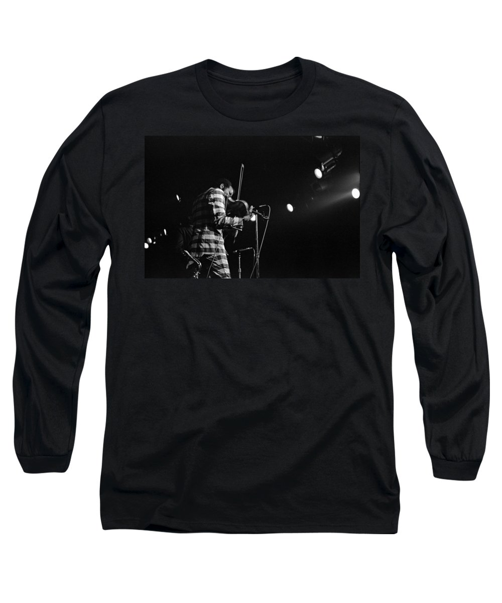 Ornette Coleman Long Sleeve T-Shirt featuring the photograph Ornette Coleman On Violin by Lee Santa