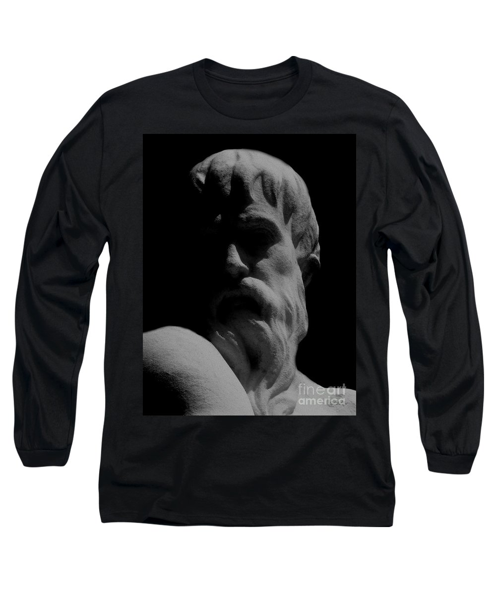 Black And White Long Sleeve T-Shirt featuring the photograph Orpheus Looks Back by RC DeWinter