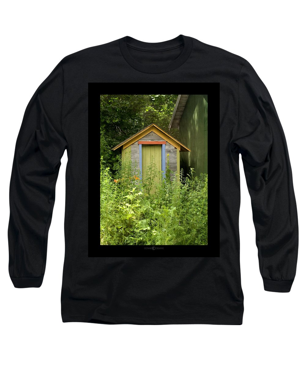 Outhouse Long Sleeve T-Shirt featuring the photograph Outhouse by Tim Nyberg