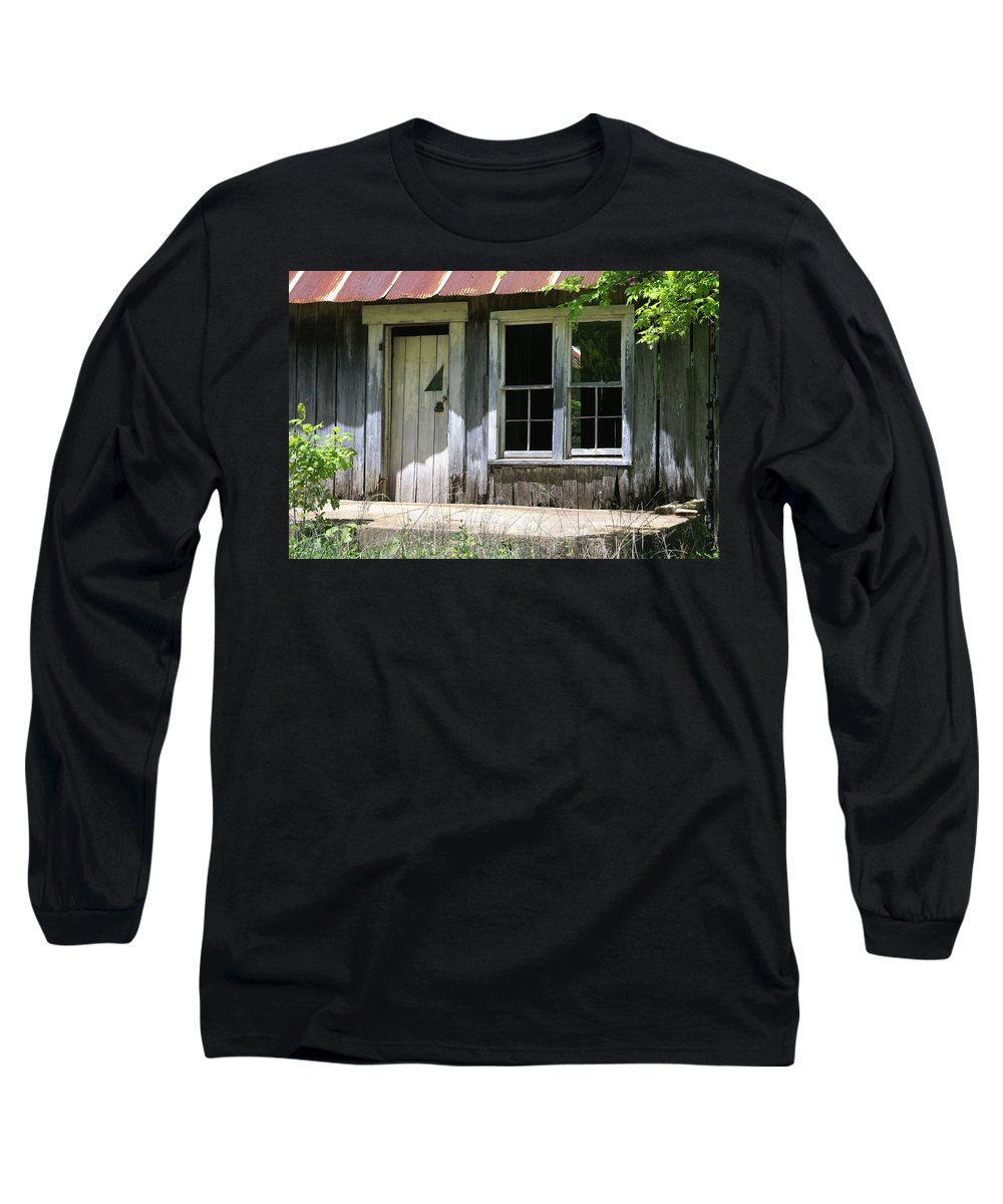 Historic Buildings Long Sleeve T-Shirt featuring the photograph Ozark Homestead by Marty Koch