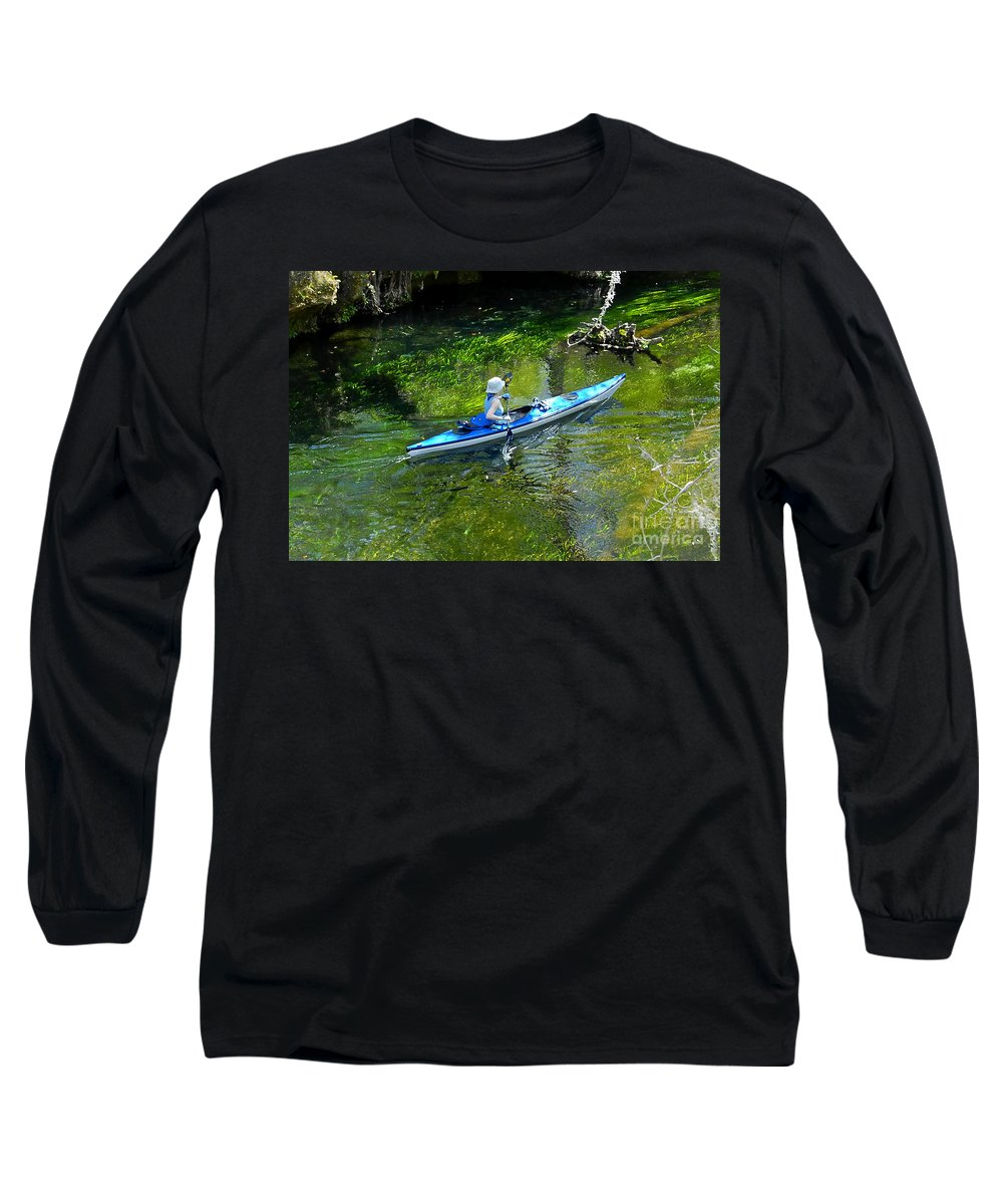Ichetucknee Springs Long Sleeve T-Shirt featuring the photograph Paddling The Ichetucknee by David Lee Thompson