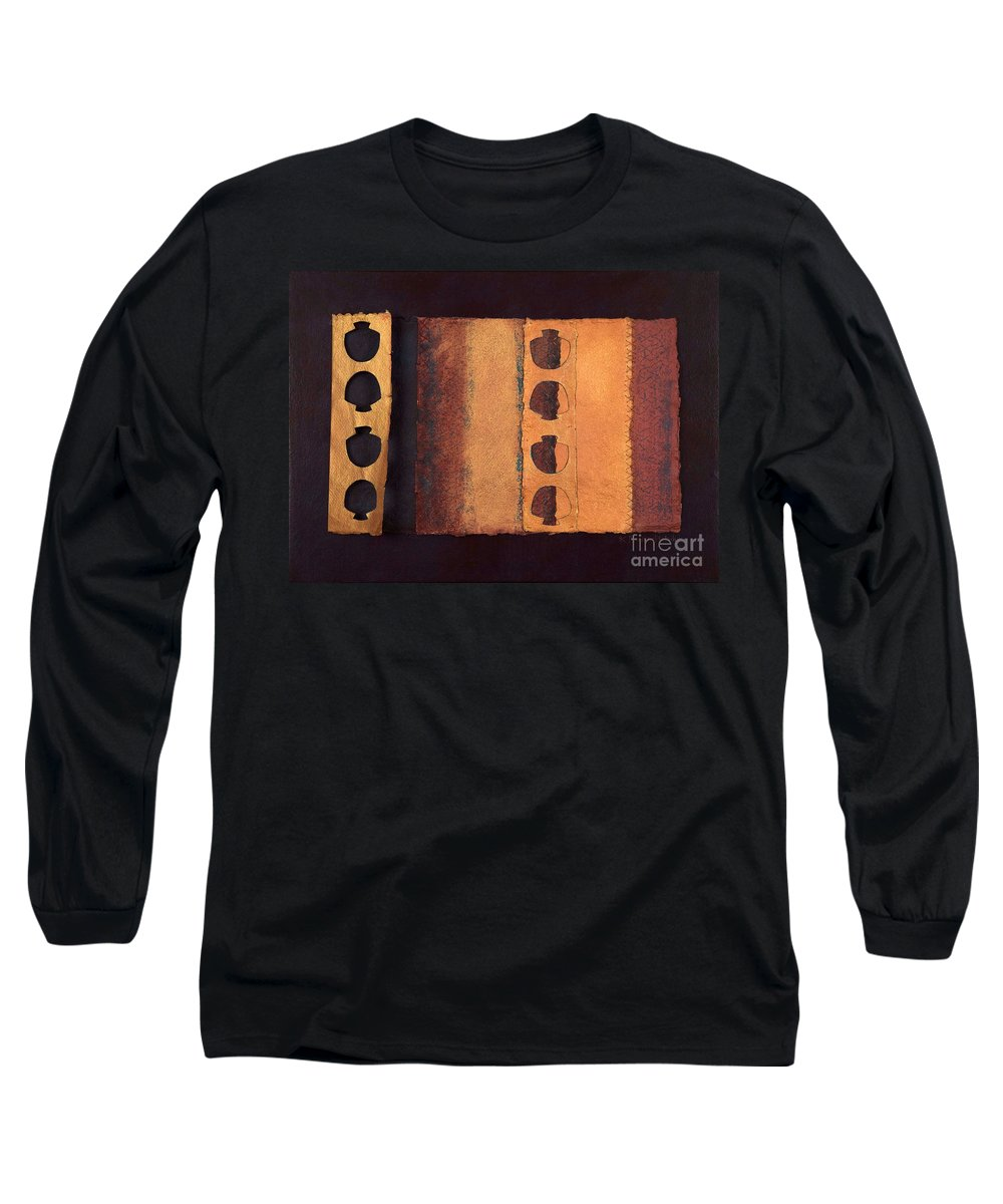 Pageformat Long Sleeve T-Shirt featuring the mixed media Page Format No 3 Tansitional Series  by Kerryn Madsen-Pietsch