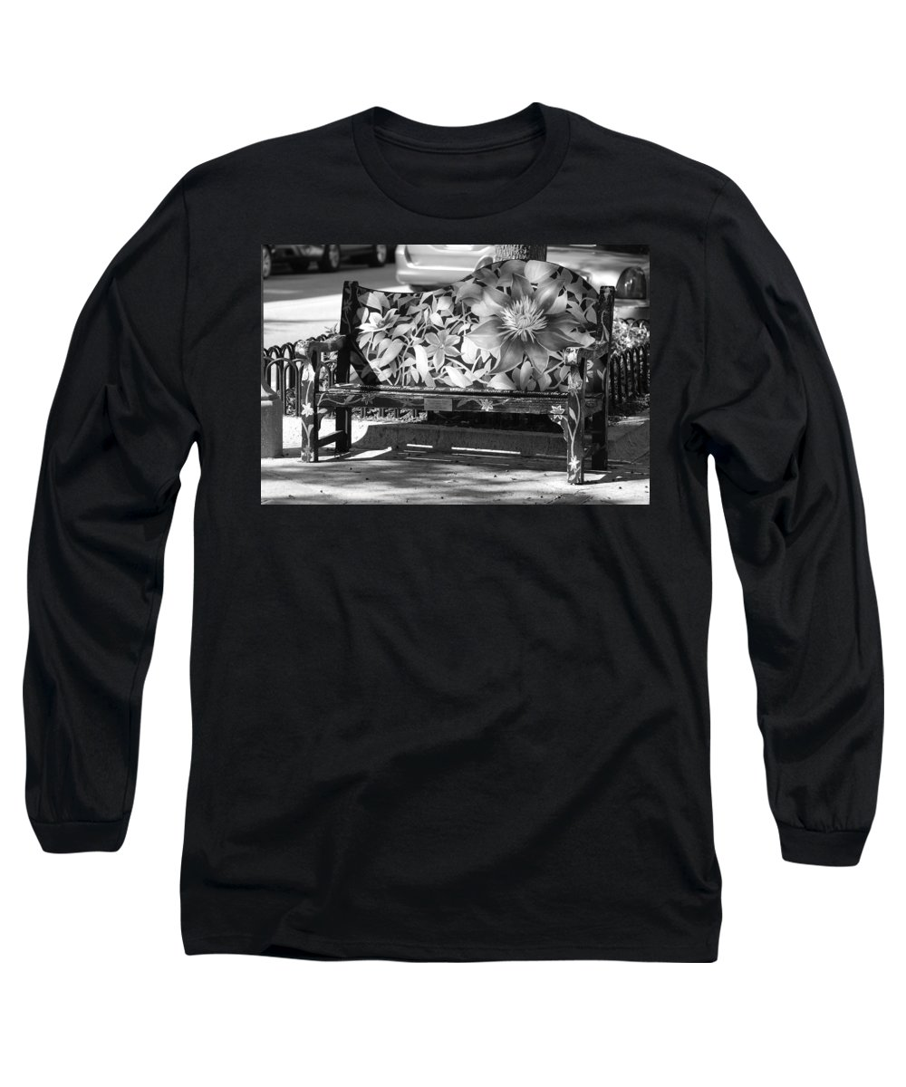 Pop Art Long Sleeve T-Shirt featuring the photograph Painted Bench by Rob Hans