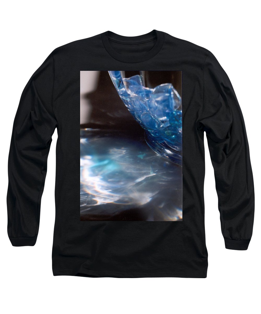 Abstract Long Sleeve T-Shirt featuring the photograph Panel One From Swirl by Steve Karol