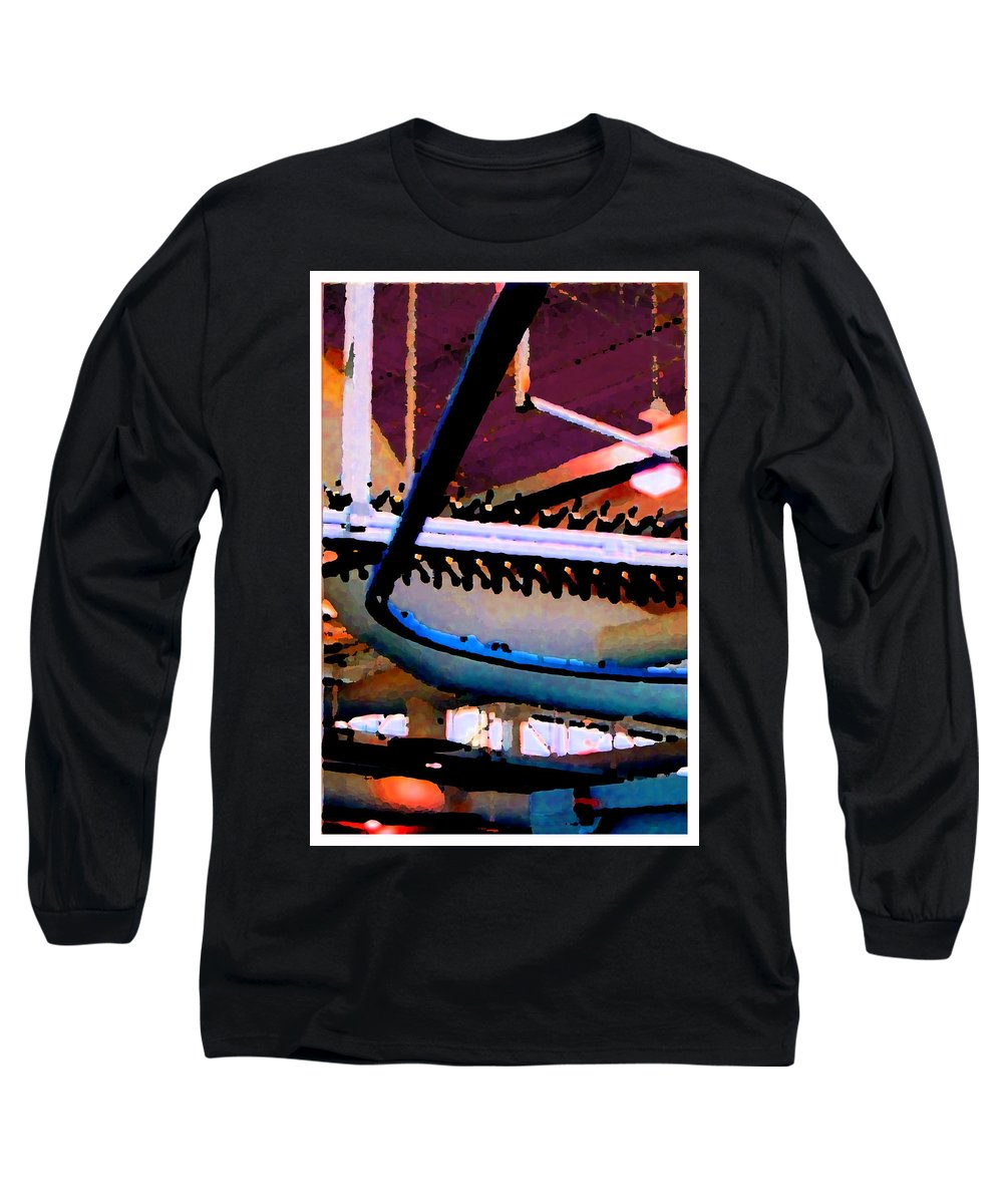 Abstract Long Sleeve T-Shirt featuring the photograph Panel Three From Star Factory by Steve Karol