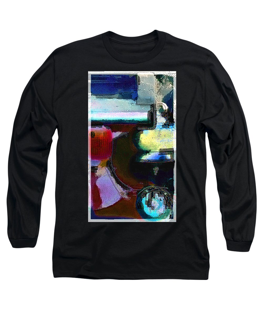 Abstract Long Sleeve T-Shirt featuring the photograph panel two from Centrifuge by Steve Karol