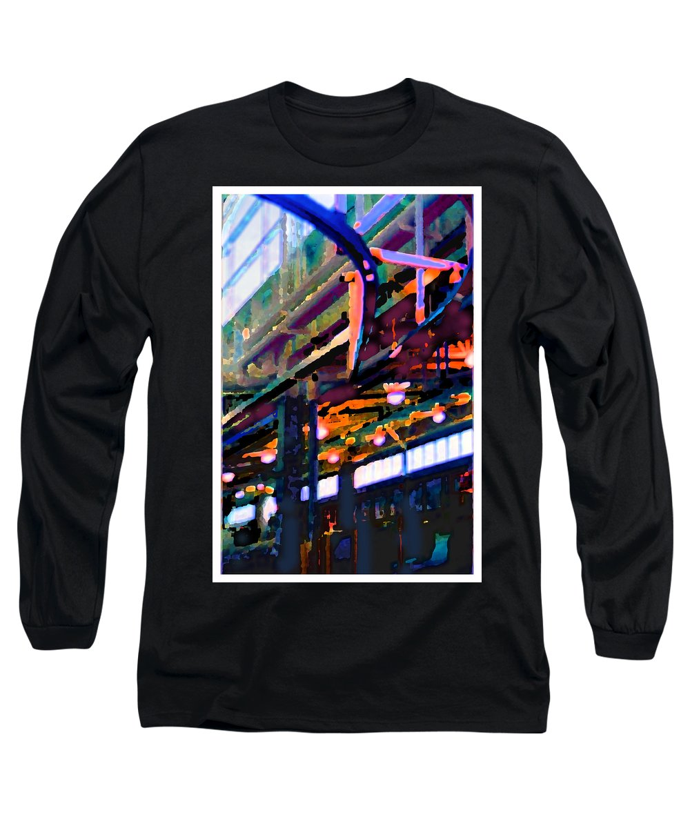 Abstract Long Sleeve T-Shirt featuring the photograph panel two from Star Factory by Steve Karol