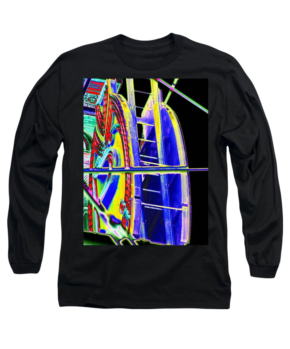 Seattle Long Sleeve T-Shirt featuring the digital art Paramount Theater Detail by Tim Allen