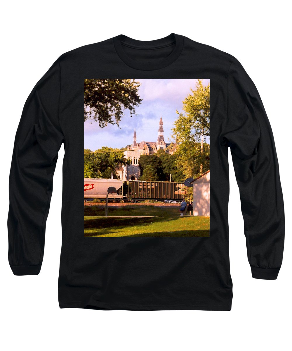Landscape Long Sleeve T-Shirt featuring the photograph Park University by Steve Karol