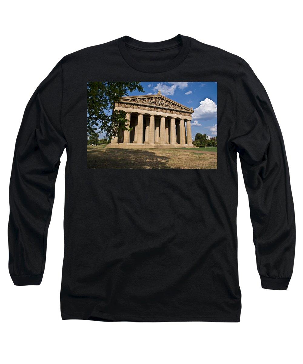 Parthenon Long Sleeve T-Shirt featuring the photograph Parthenon Nashville Tennessee by Douglas Barnett