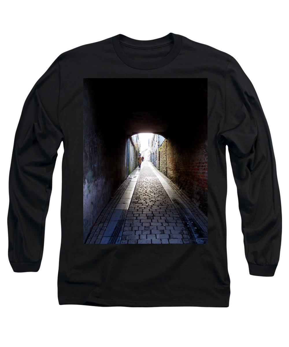 Cooblestone Long Sleeve T-Shirt featuring the photograph Passage by Tim Nyberg