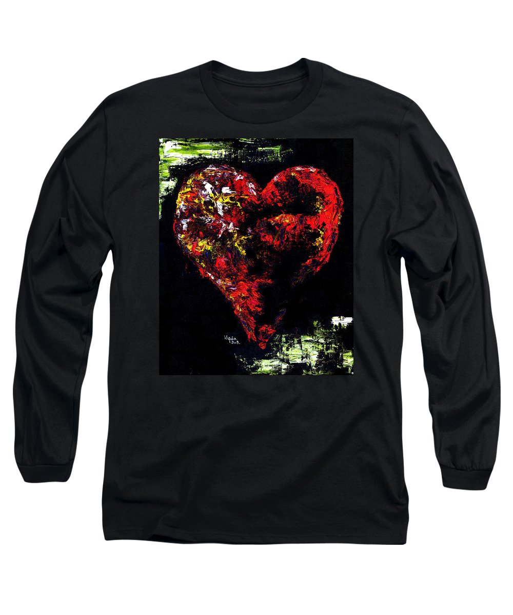 Heart Long Sleeve T-Shirt featuring the painting Passion by Hiroko Sakai