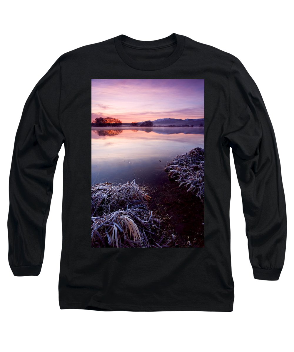 Lake Long Sleeve T-Shirt featuring the photograph Pastel Dawn by Mike Dawson