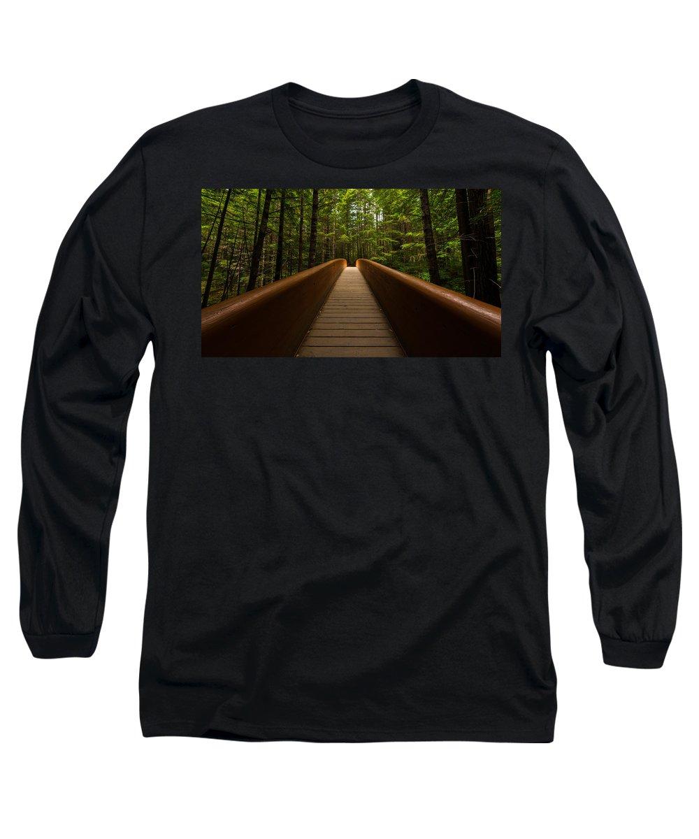 California Long Sleeve T-Shirt featuring the photograph Peace Bridge by Dustin LeFevre
