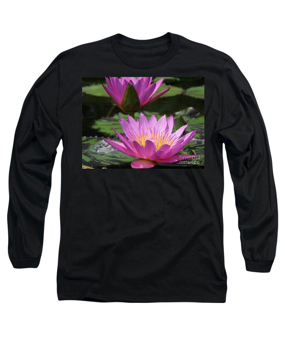 Lillypad Long Sleeve T-Shirt featuring the photograph Peaceful by Amanda Barcon