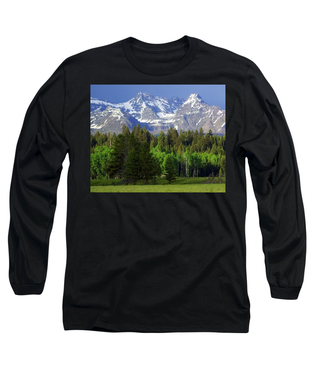 Mountains Long Sleeve T-Shirt featuring the photograph Peaks by Marty Koch