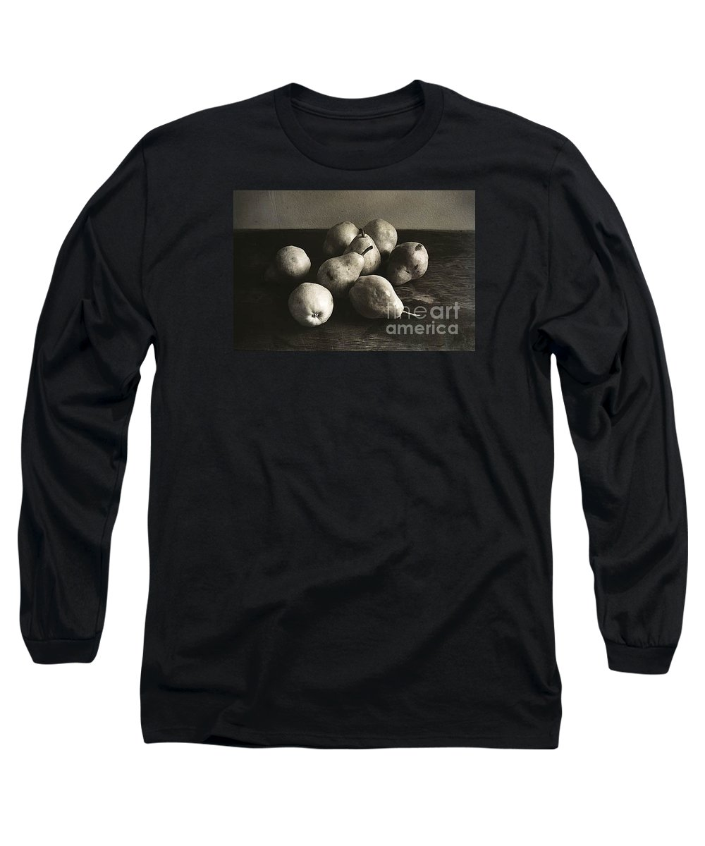 Pears Long Sleeve T-Shirt featuring the photograph Pears by Michael Ziegler
