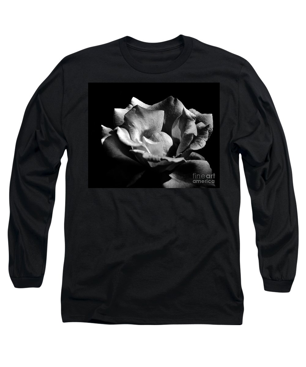 Clay Long Sleeve T-Shirt featuring the photograph Penetrating The Rose by Clayton Bruster