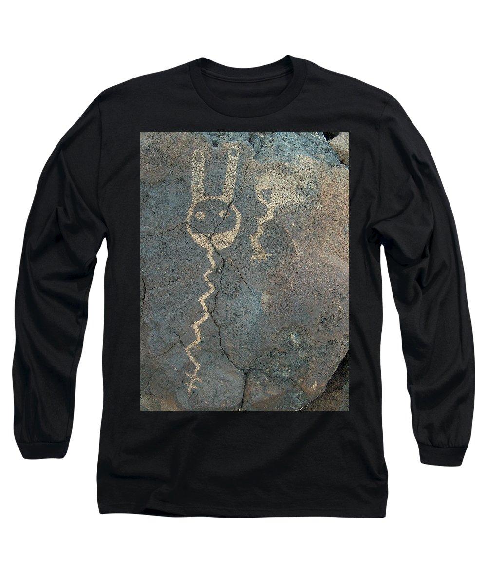 Petroglyph Long Sleeve T-Shirt featuring the photograph Petroglyph Series 1 by Tim McCarthy
