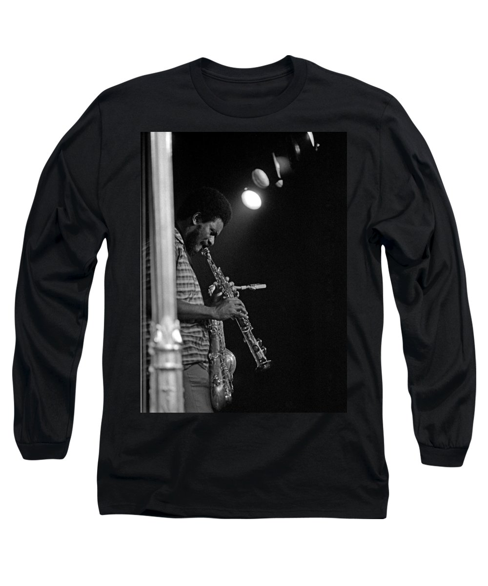 Pharoah Sanders Long Sleeve T-Shirt featuring the photograph Pharoah Sanders 1 by Lee Santa
