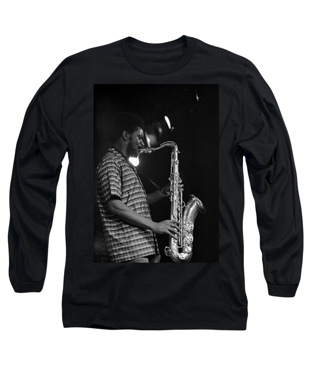 Pharoah Sanders Long Sleeve T-Shirt featuring the photograph Pharoah Sanders 2 by Lee Santa