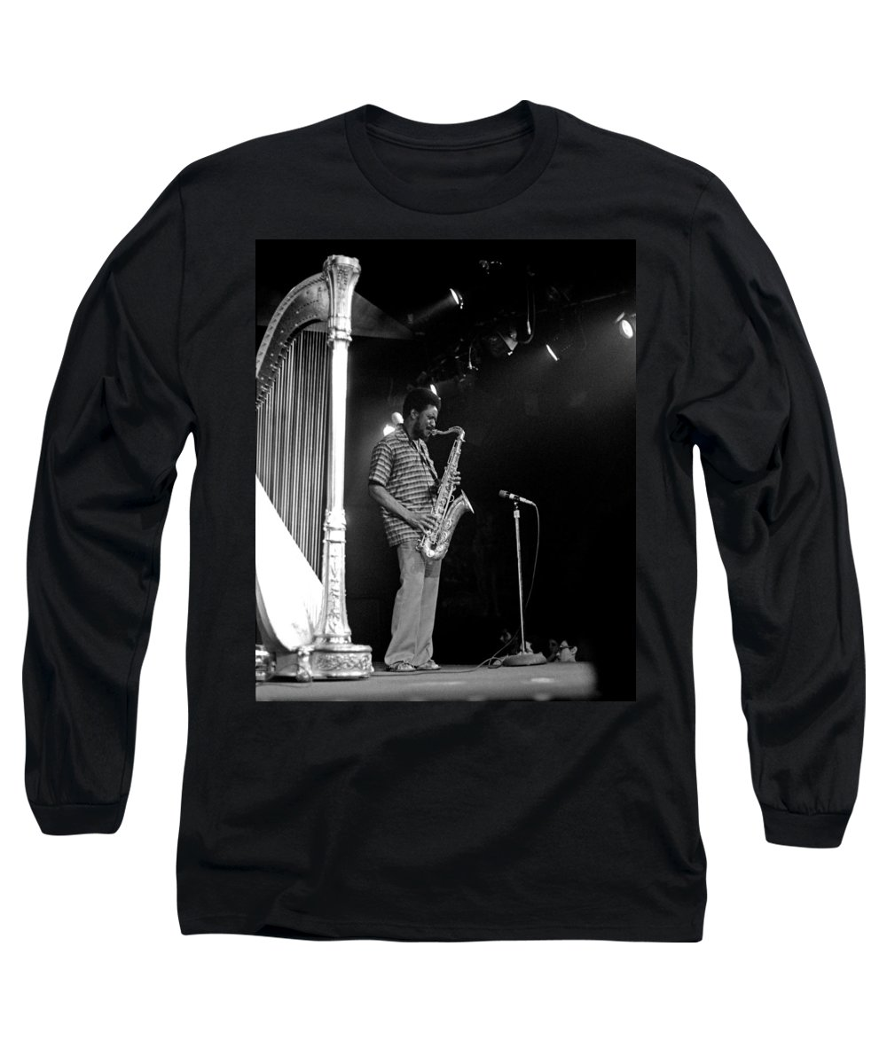 Pharoah Sanders Long Sleeve T-Shirt featuring the photograph Pharoah Sanders 5 by Lee Santa