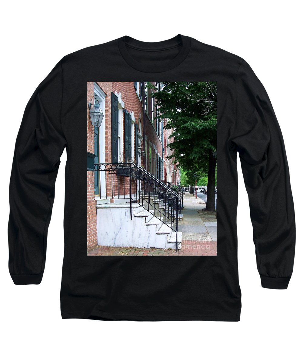 Architecture Long Sleeve T-Shirt featuring the photograph Philadelphia Neighborhood by Debbi Granruth