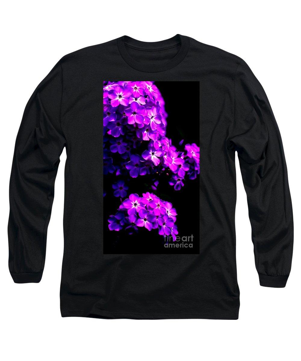 Digital Photograph Long Sleeve T-Shirt featuring the photograph Phlox 1 by David Lane