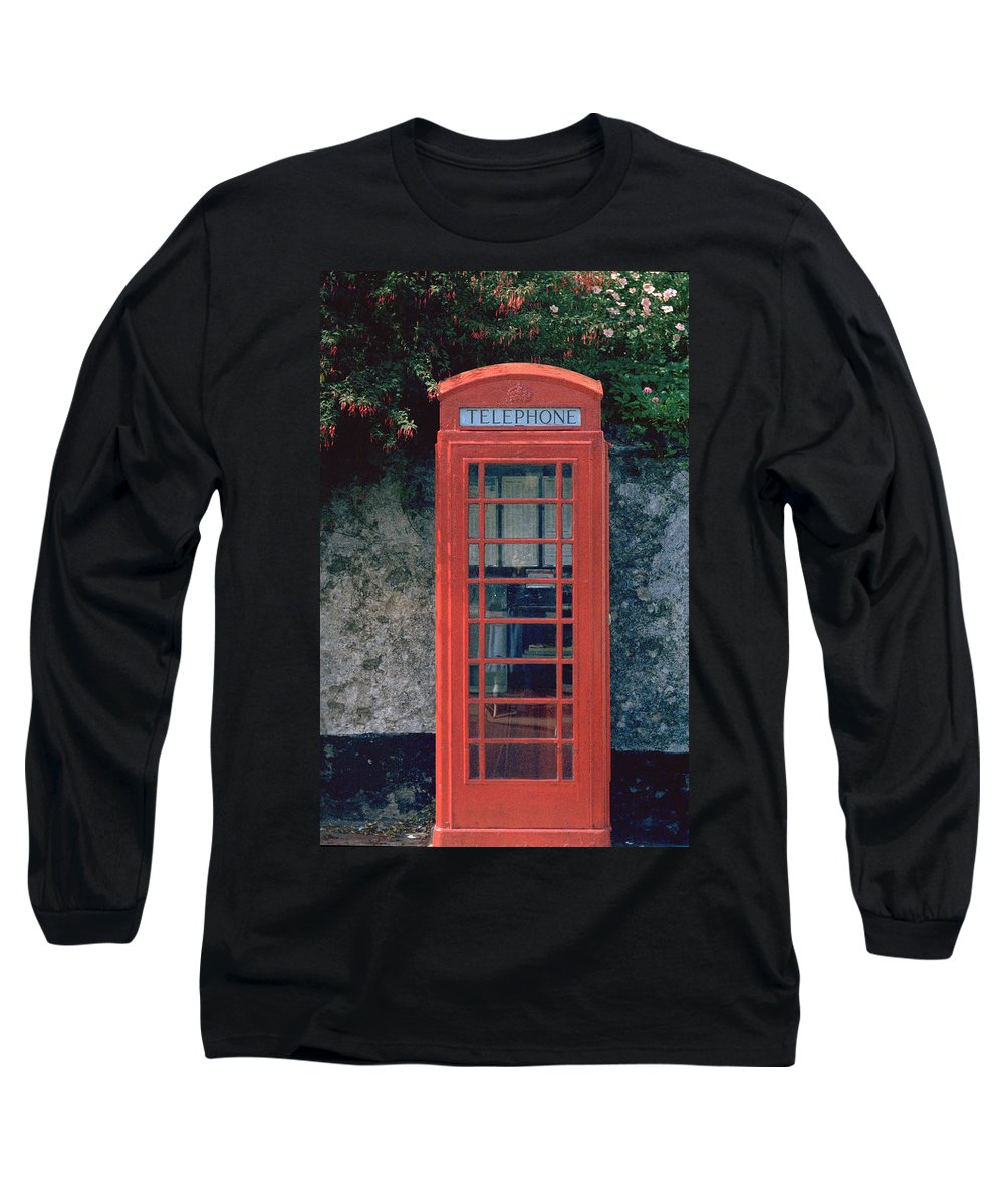 Great Britain Long Sleeve T-Shirt featuring the photograph Phone Booth by Flavia Westerwelle