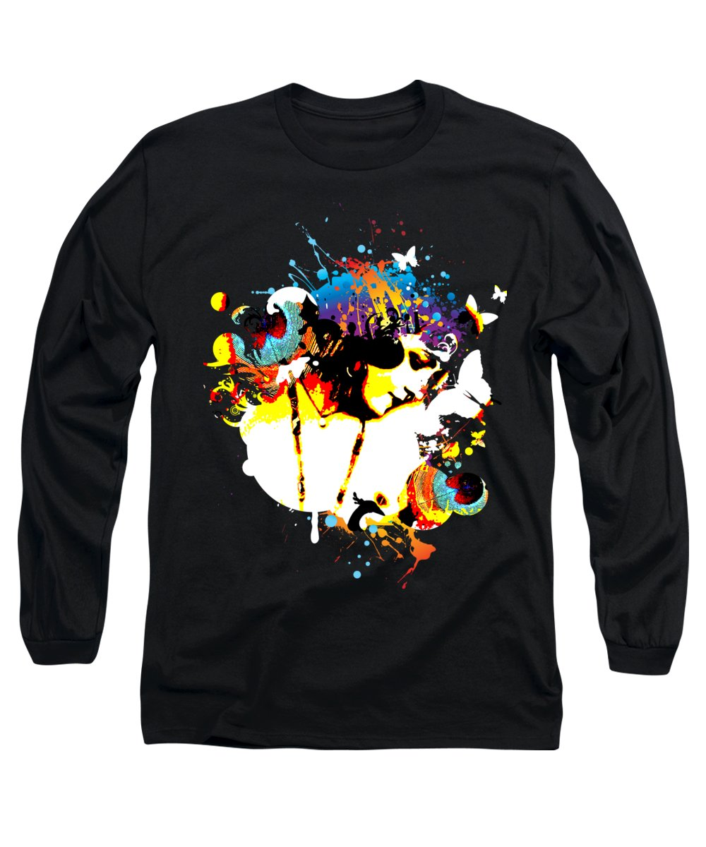 Flapper Digital Art Long Sleeve T-Shirts